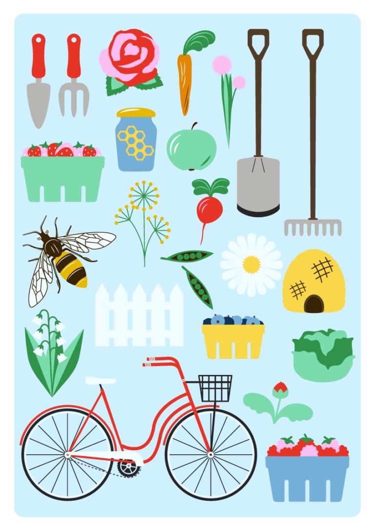 Jenni's Prints - Scandi Farming - Illustration