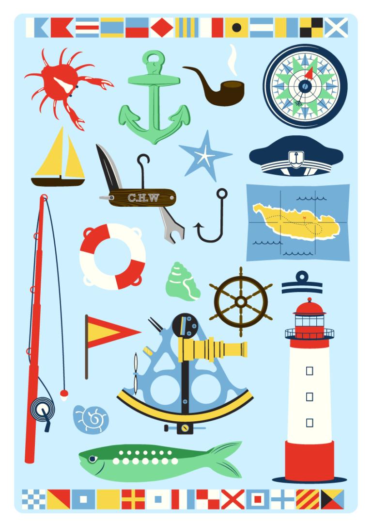 Jenni's Prints - Scandi Nautical - Illustration