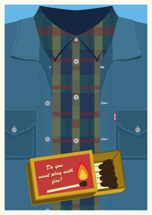 Jenni's Prints - Twin Peaks Characters - Bob - Illustration
