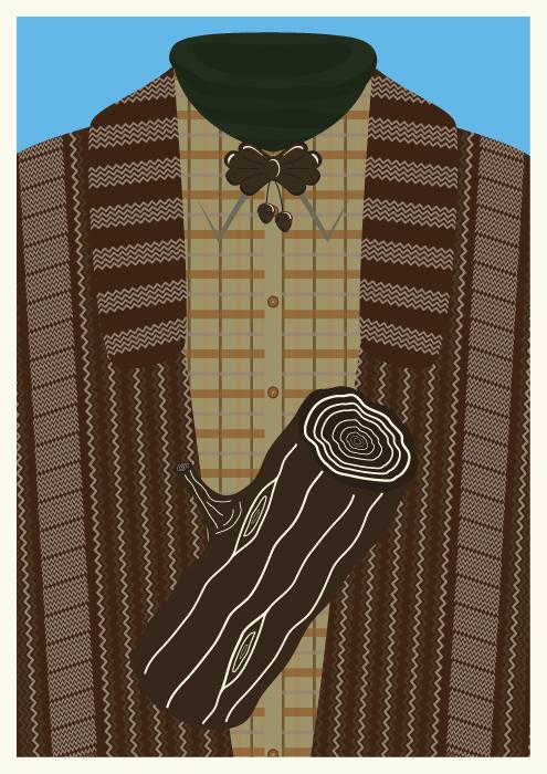 Jenni's Prints - Twin Peaks Characters - Log Lady - Illustration