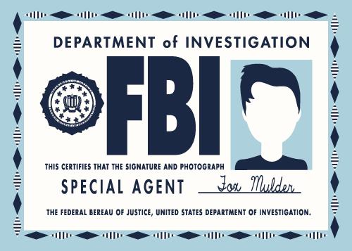 Jenni's Prints - X-files - Agent Mulder - Illustration