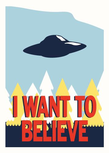 Jenni's Prints - X-files - I want to believe - Illustration