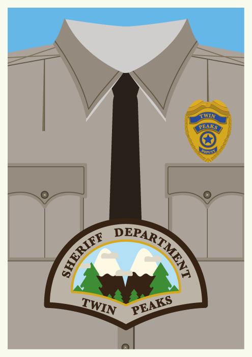 Jenni's Prints - Twin Peaks Characters - Sheriff - Illustration