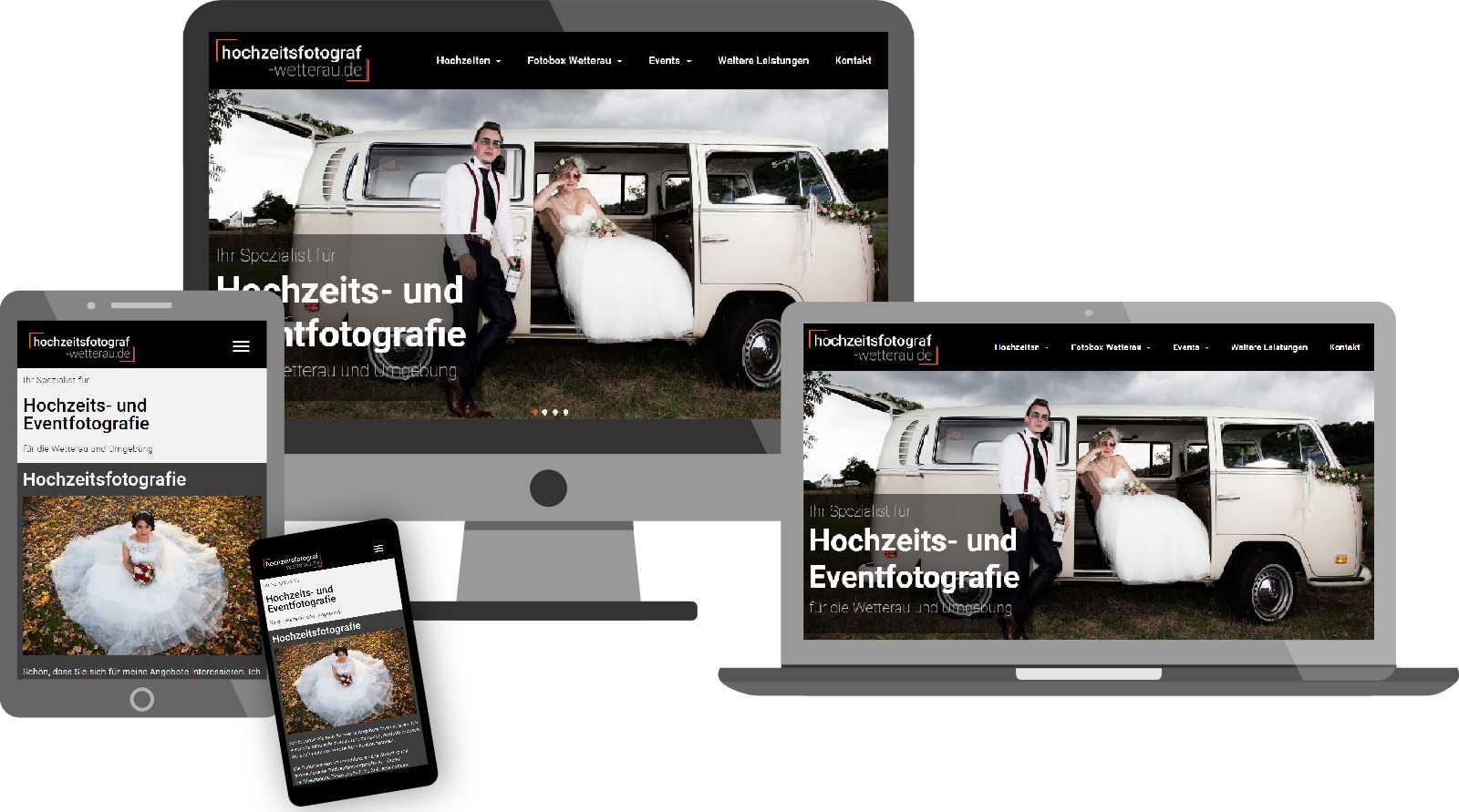 Referenzen - Website hochzeitsfotografie-wetterau.de