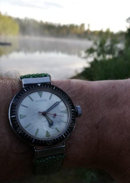 Vostok Amphibian, type 350. Early swim