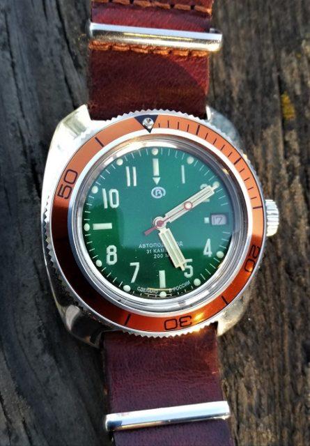 Russian wristwatch automatic Vostok Amphibian 710