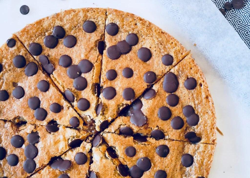 Glutenfri kladdkaka med chocolate chip cookie