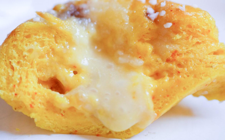 Glutenfri butterkaka med saffran – fylld med mandelmassa, choklad, apelsin och vaniljkräm