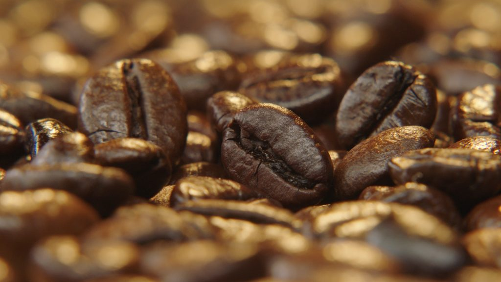 Coffee Beans close-up Cameraman
