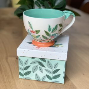 Secret garden fox tea cup