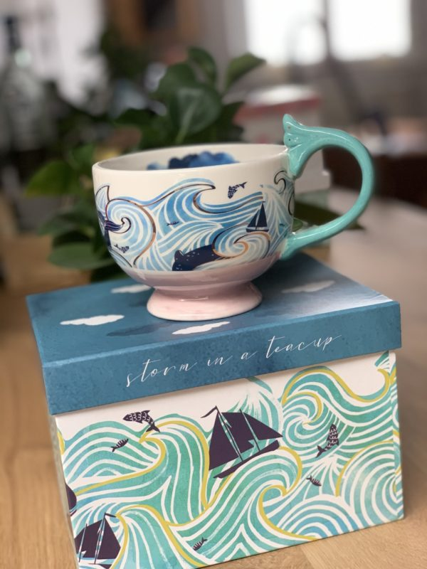 Tea Cup By The Sea Storm