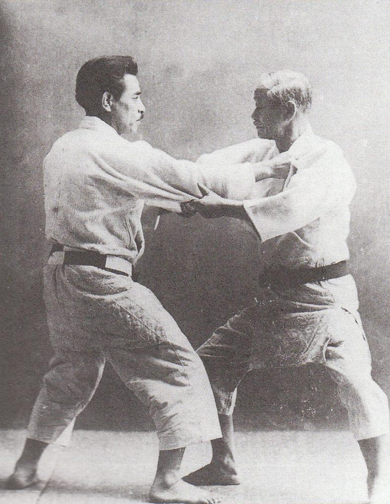 Jigoro Kano and Kyuzo Mifune