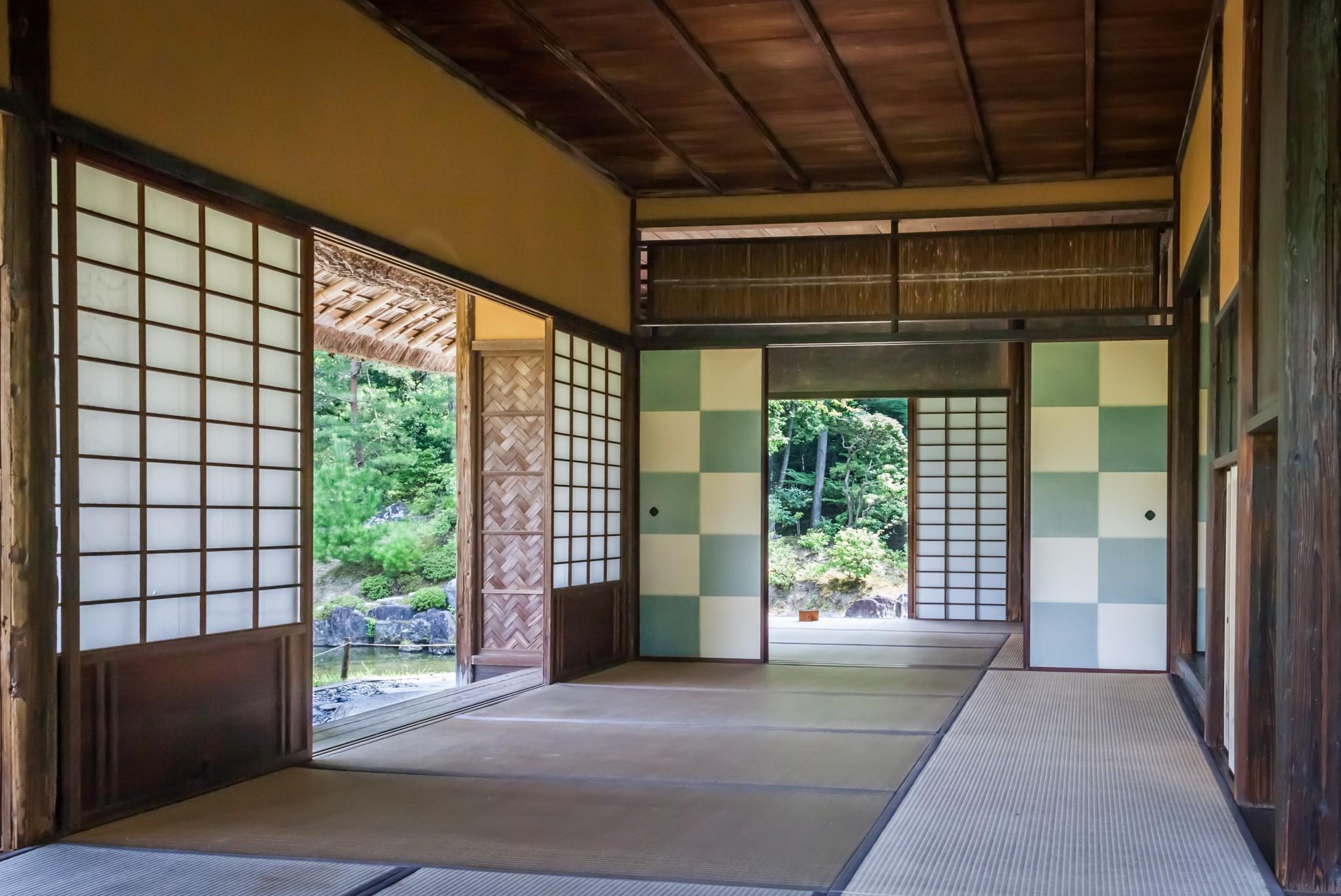 architecture asia building checkered pattern design garden house imperial villa interior japan t20 eV0LKW