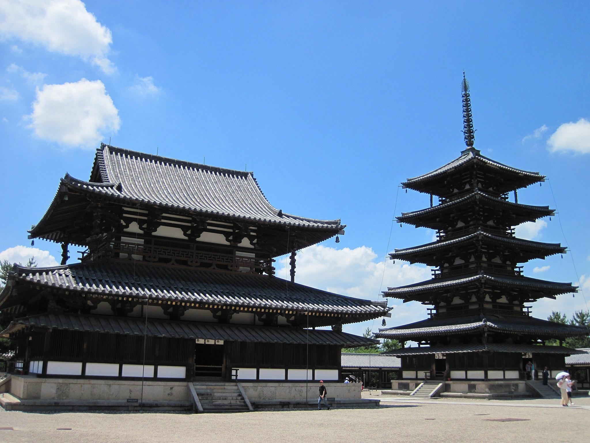 2048px-Horyu-ji_National_Treasure_World_heritage_国宝・世界遺産法隆寺85