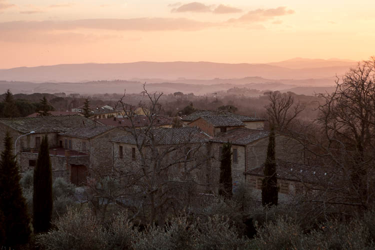 Sunset in Castelnuovo Berardegna 31.12.2014