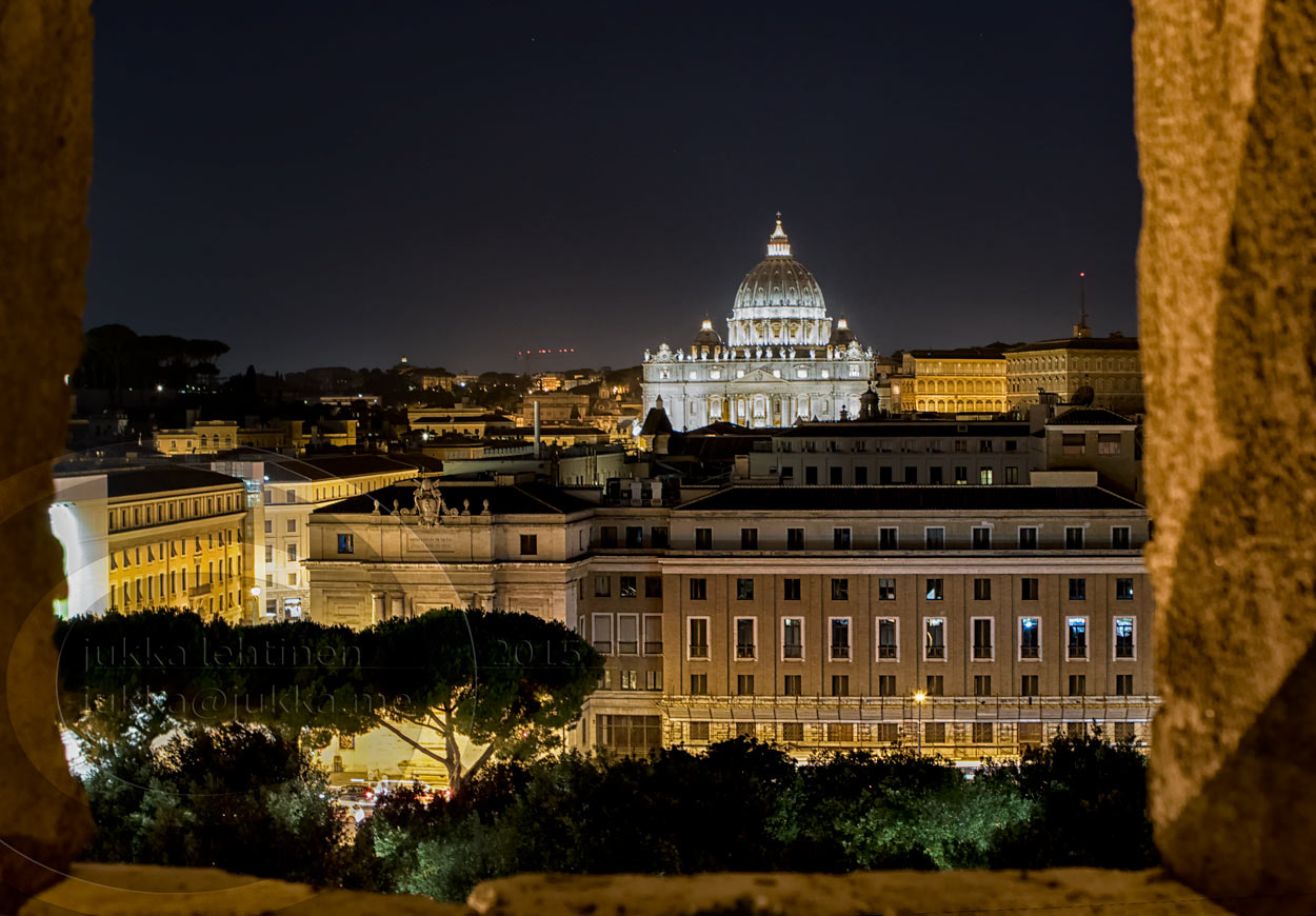 View from castello di s'Angelo towards Vatican