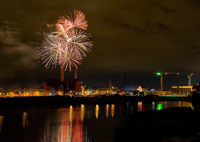fireworks in Helsinki