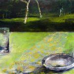 Waldstück 2008, 100x80, Acryl auf Leinwand