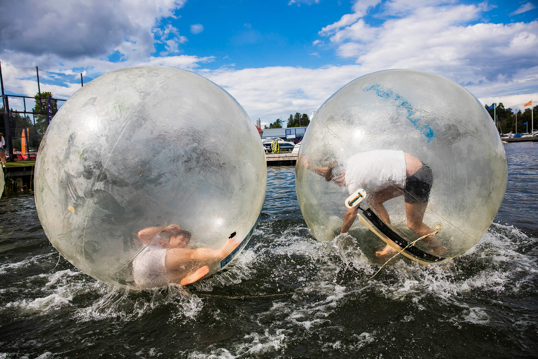 Waterballs i Jungfrusund