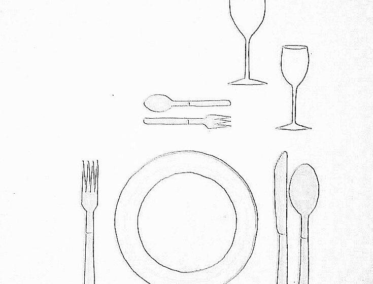 nakrycie podstawowe 001 735x560 - Wokół stołu – nakrycie podstawowe