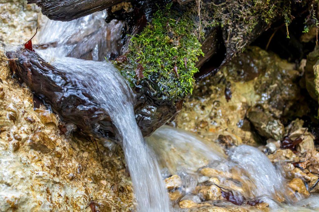 waterfall, water, river