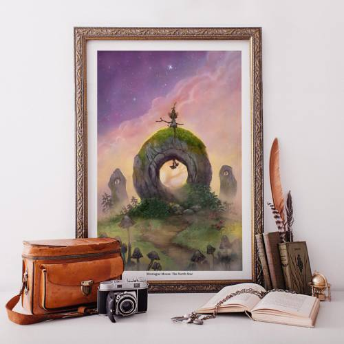 Montague Mouse: The North Star Art Print