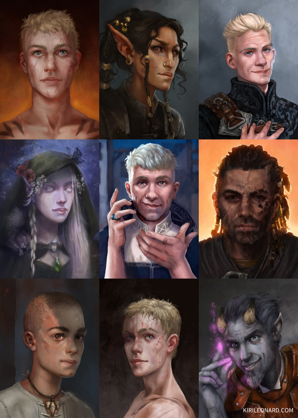 Locke the Legend Character Portraits by Kiri Leonard