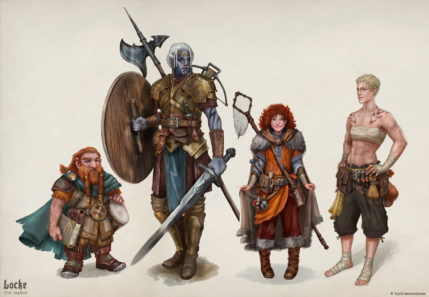 Locke the Legend: D&D Character Group Portrait