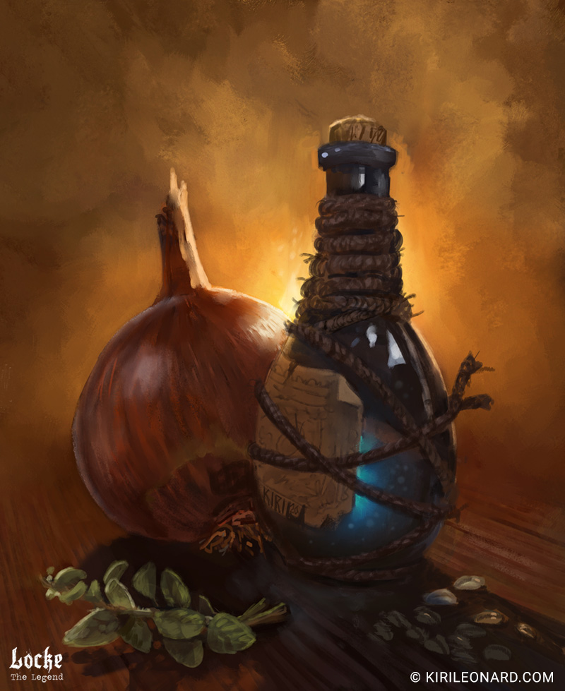 Illustration of healing potion for Locke the Legend