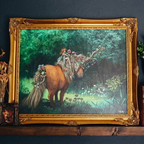 Canvas Print: The Fairy and the Junicorn