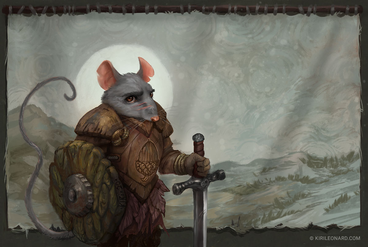 illustration of mouse knight by Kiri Leonard