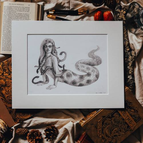 Medusa drawing by Kiri Leonard