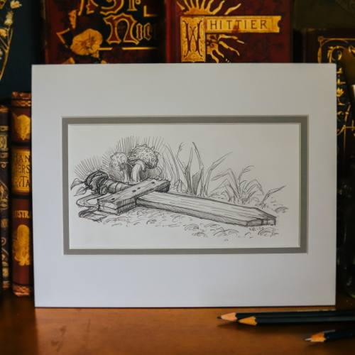 Wooden Sword Drawing by Kiri Leonard