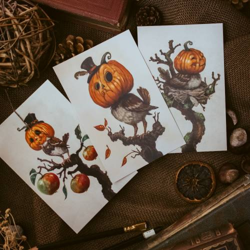 Halloween Cards by Danish Artist Kiri Leonard