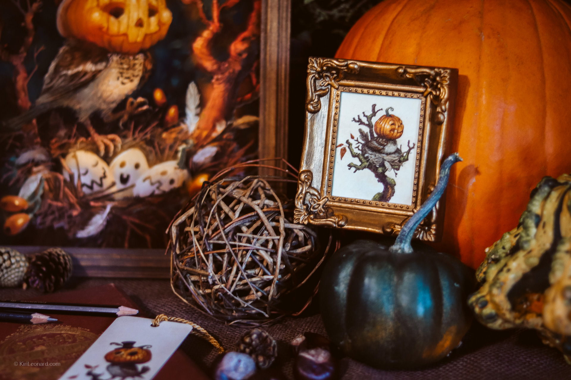 Halloween Artwork for your home by Danish artist Kiri Leonard