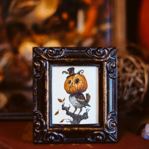 Framed Mini: The Pumpkin Sparrow by Kiri Leonard