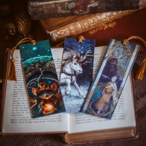 Whimsical Bookmark Set by Kiri Leonard Viking Bookmark Unicorn Bookmark Cute Mouse Bookmark
