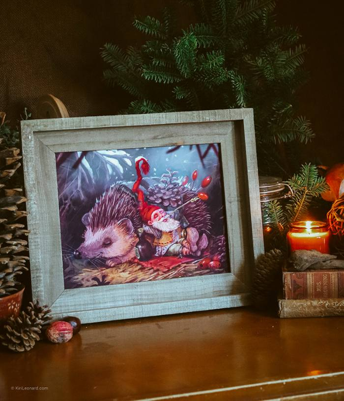"""8"""" x 10"""" Art Print of the Gnome and the Hedgehog"""