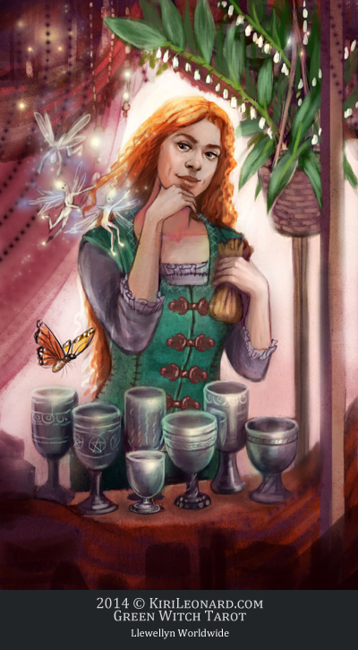 Green Witch Tarot: 7 of Chalices