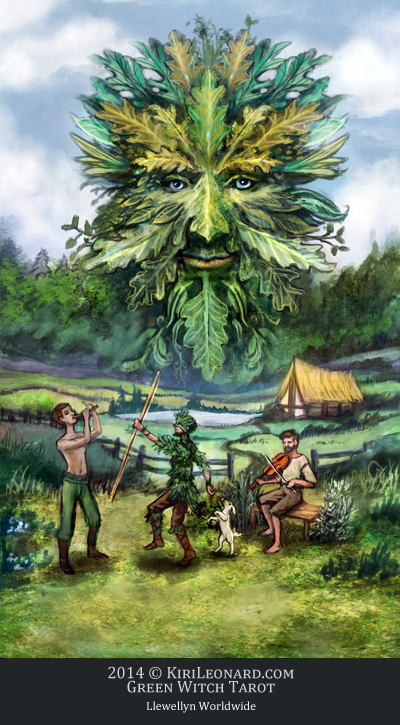 The Green Witch Tarot: The Green Man