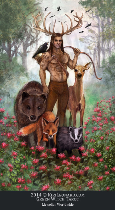 Green Witch Tarot: The Horned God