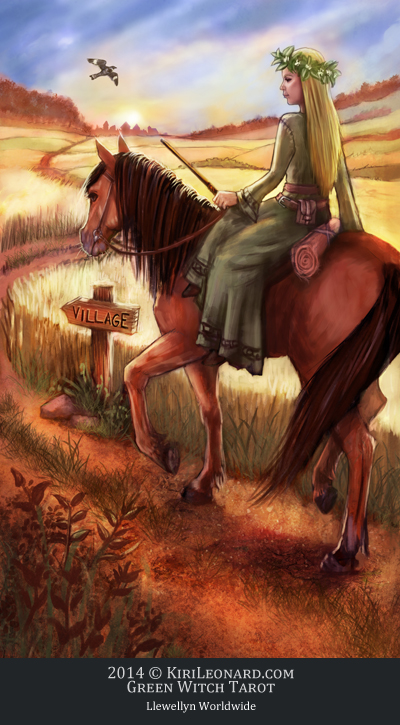 The Green Witch Tarot: Knight of Wands