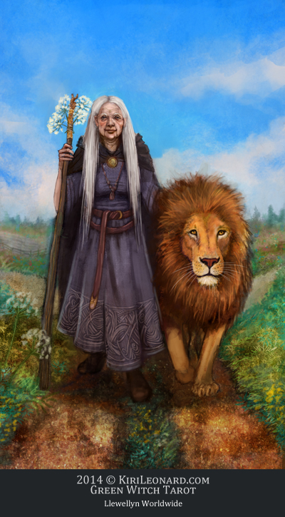 The Green Witch Tarot: Strength