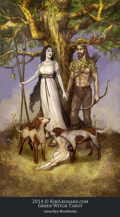 The Green Witch Tarot: The Lovers