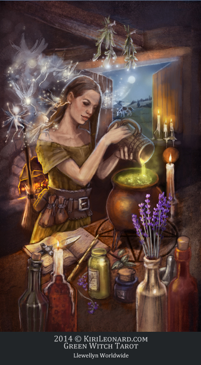 Green Witch Tarot: The Sidhe