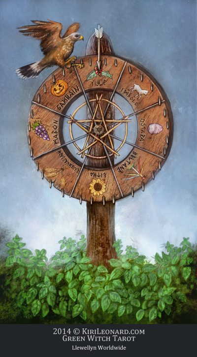 Green Witch Tarot: Wheel of the Year
