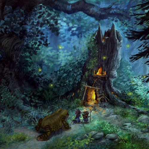 Illustration from Montague Mouse: The Entrance of Carmurine by fantasy artist Kiri Leonard