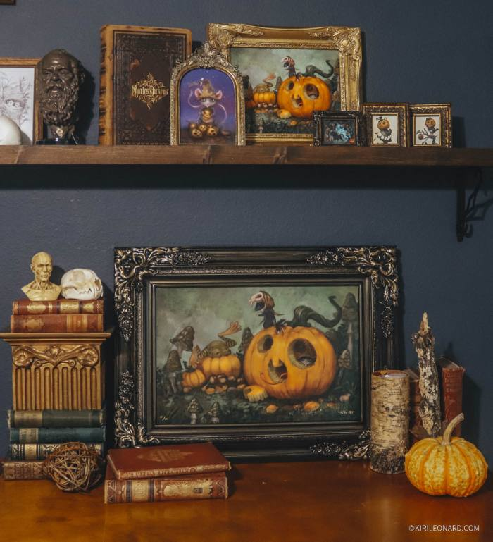 Limited Edition Canvas Print: Montague Mouse - All Hallow's Eve