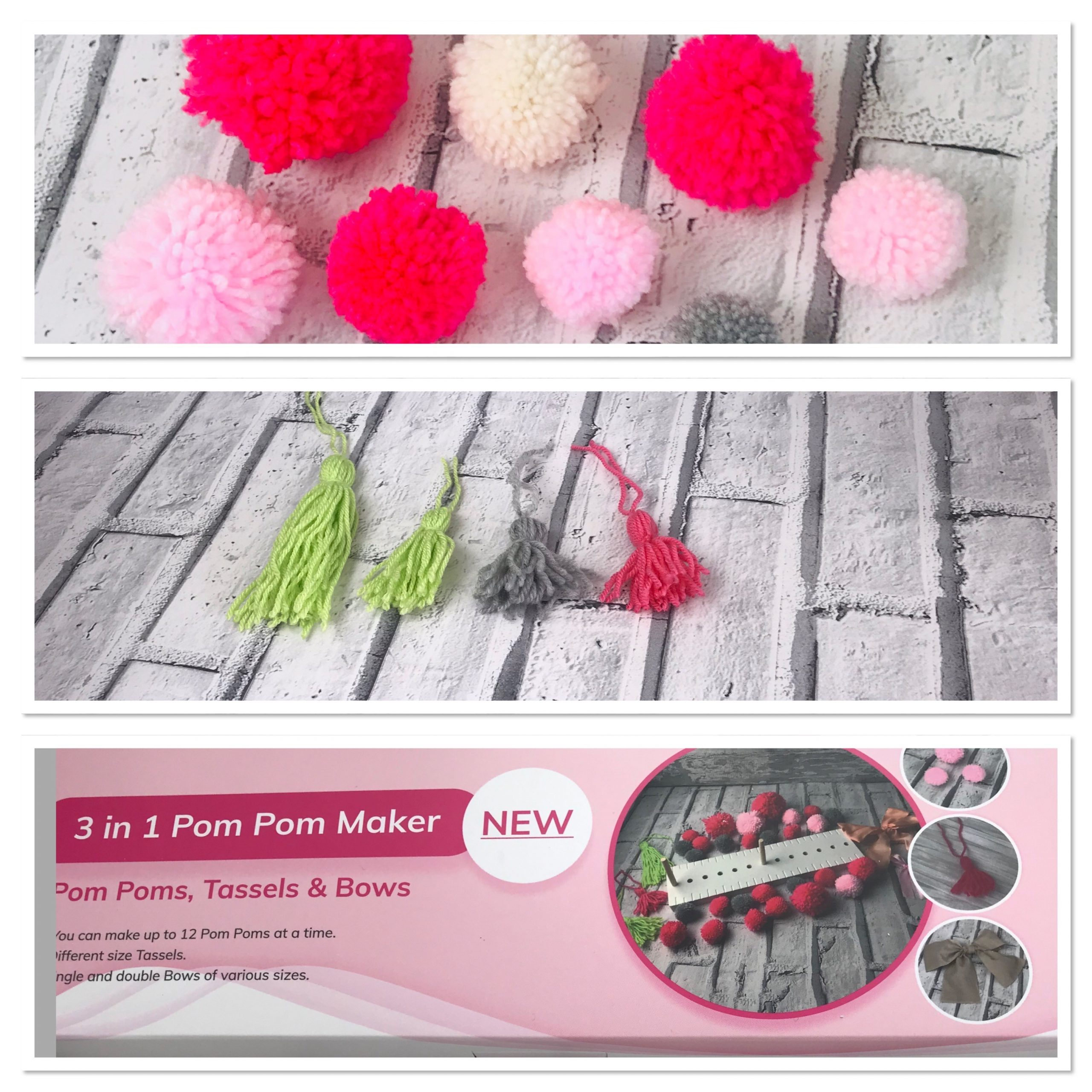 Pom Pom Maker 3 in 1 - New Product