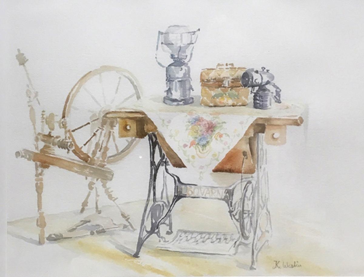 Kerstin Westin Måleri | Akvarell 50 x 40 cm 70 x 60 cm med ram 5 000 kr